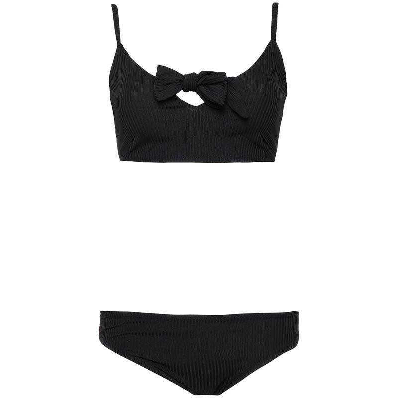 bikini zwart geribbeld - bikini's en badpakken - comegetfashion