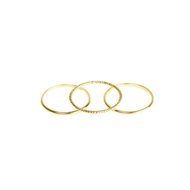 STUNNING GOLD RING SET