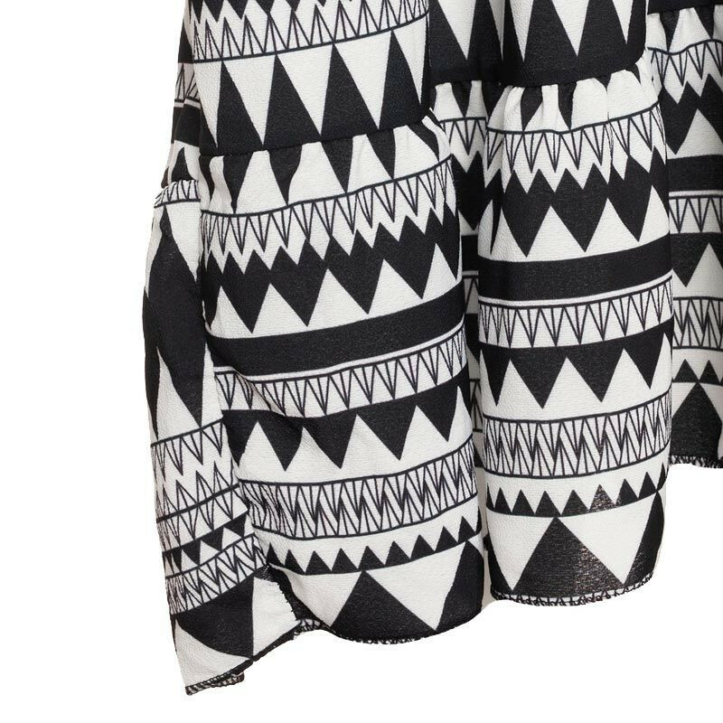 BLACK AZTEC BEACH DRESS