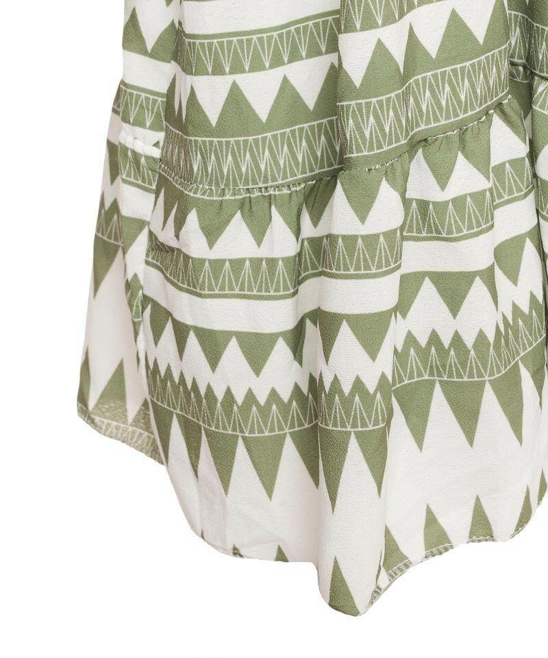 GREEN AZTEC BEACH DRESS