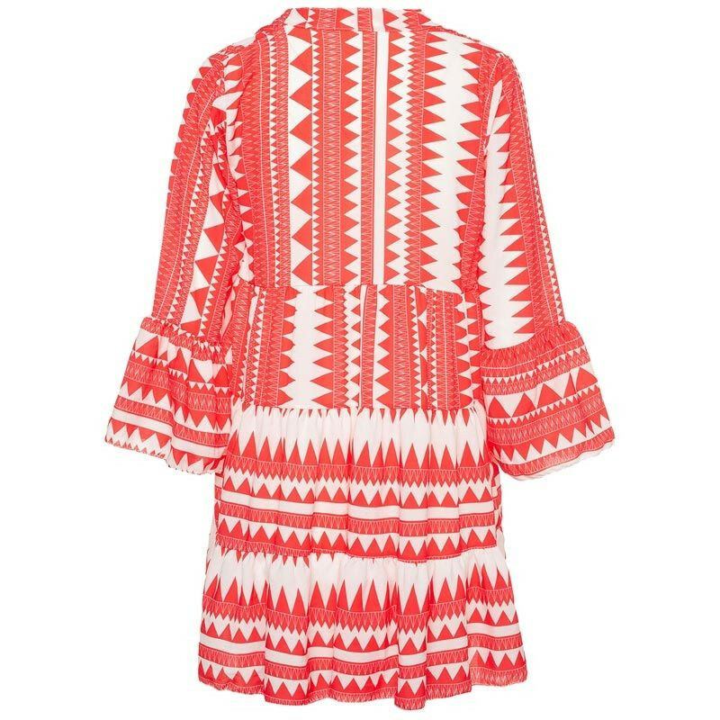 RED AZTEC BEACH DRESS
