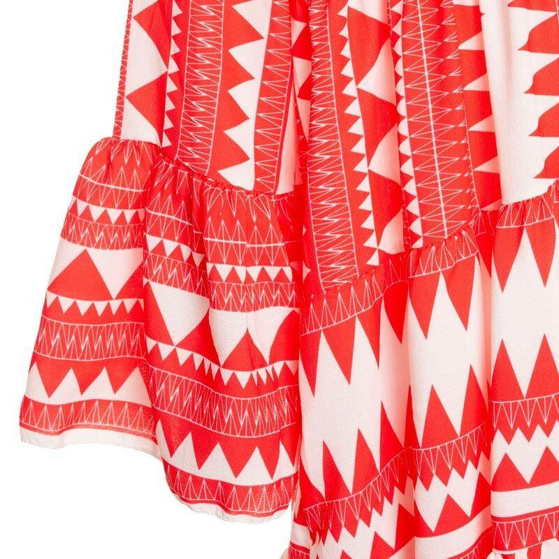 RED AZTEC BEACH DRESS