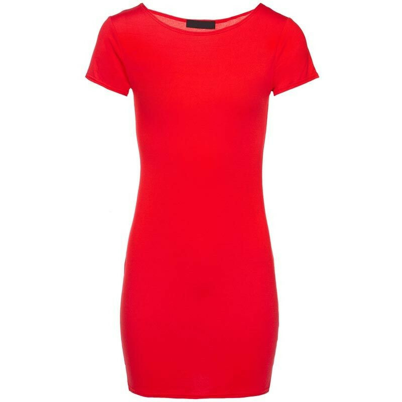 RED TEMPTING TEE DRESS