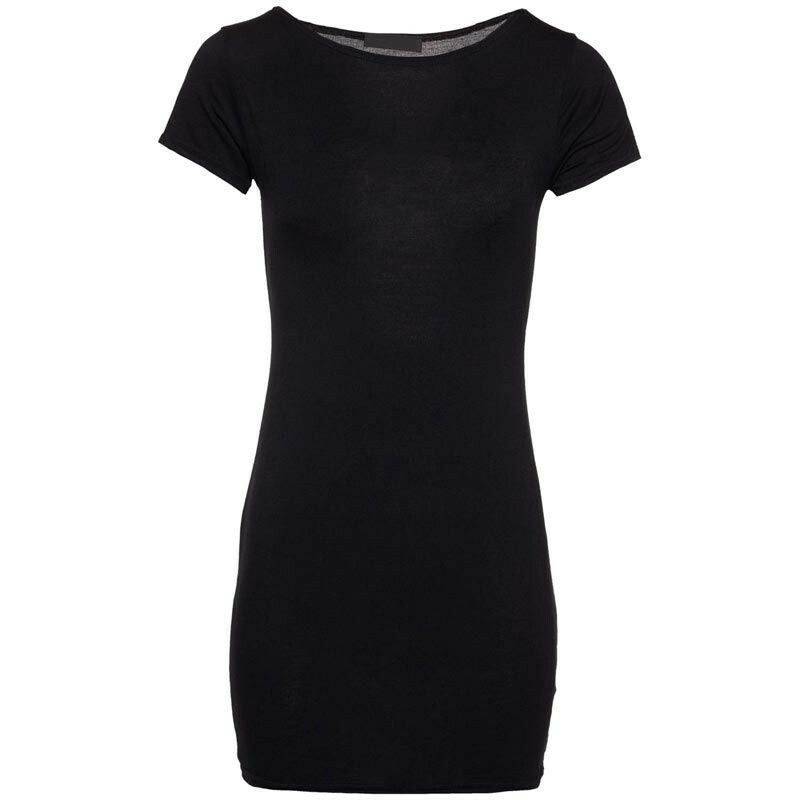 BLACK TEMPTING TEE DRESS
