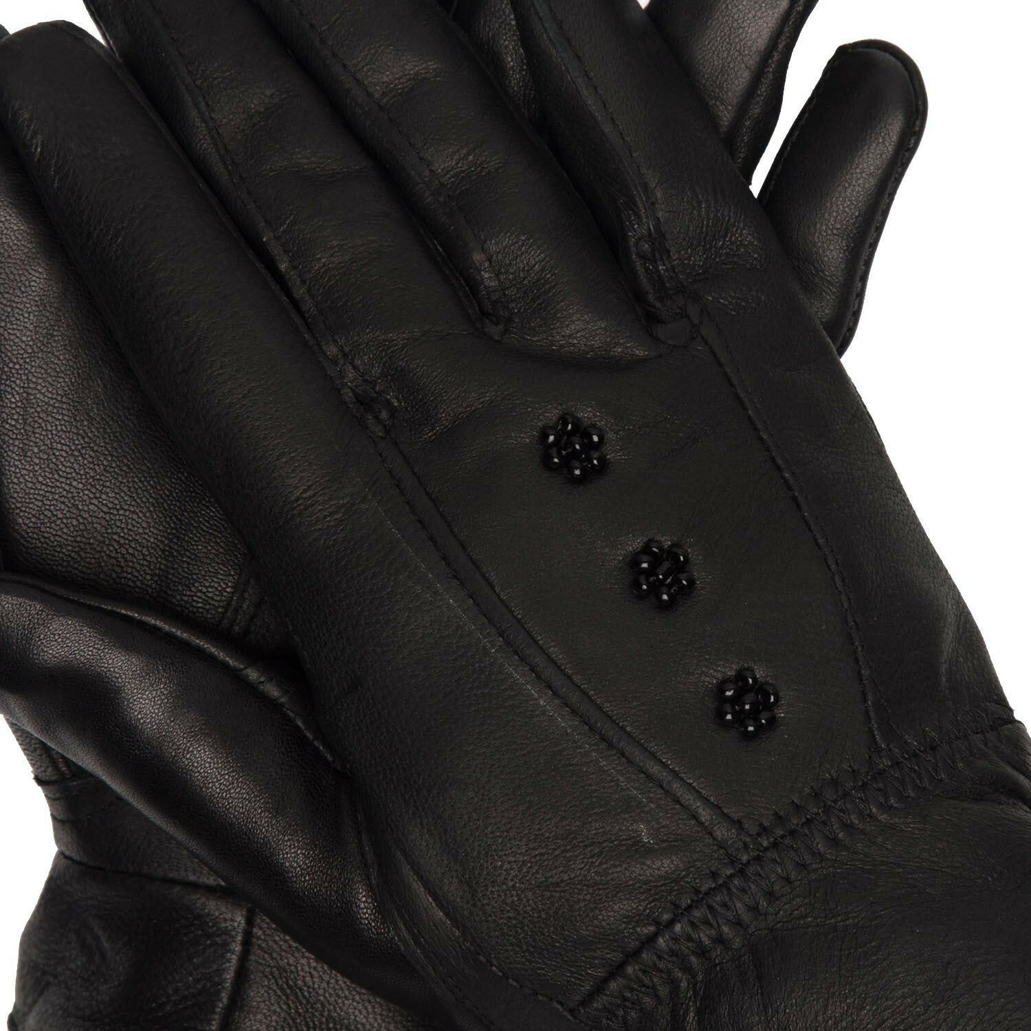 BEADED LEATHER GLOVES