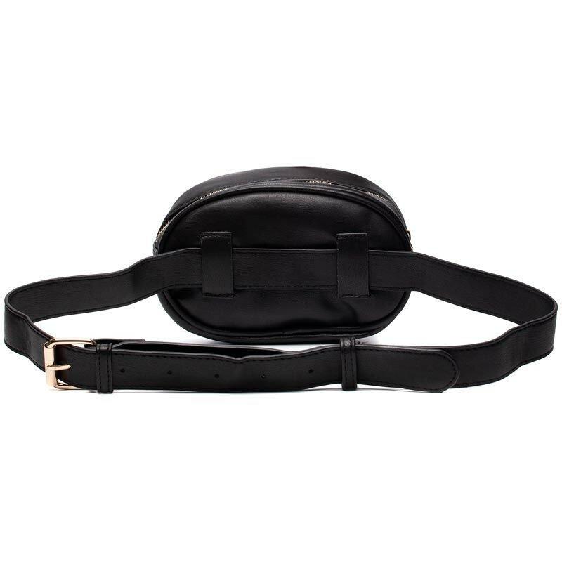 BLACK SHAPE UP BUM BAG