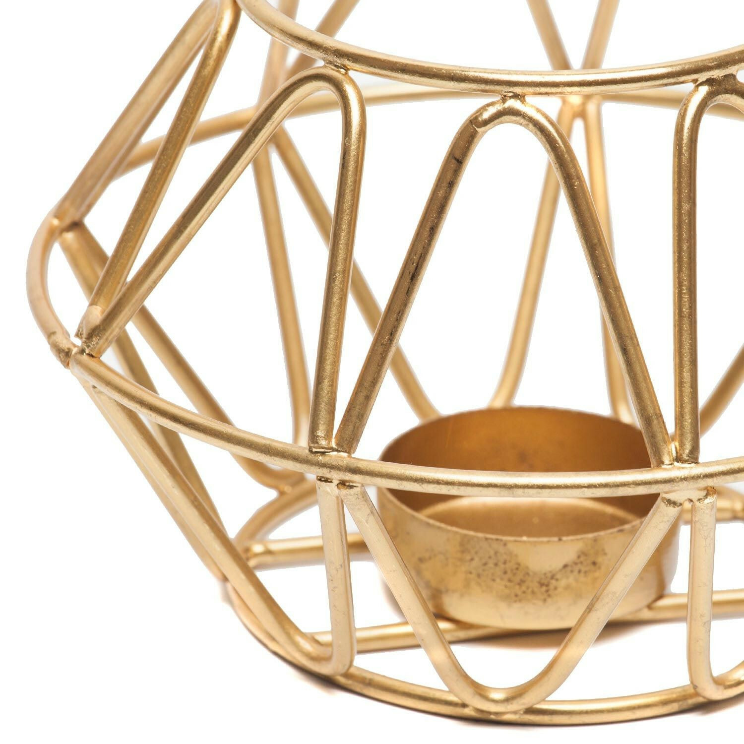 GOLD COZY CANDLEHOLDER