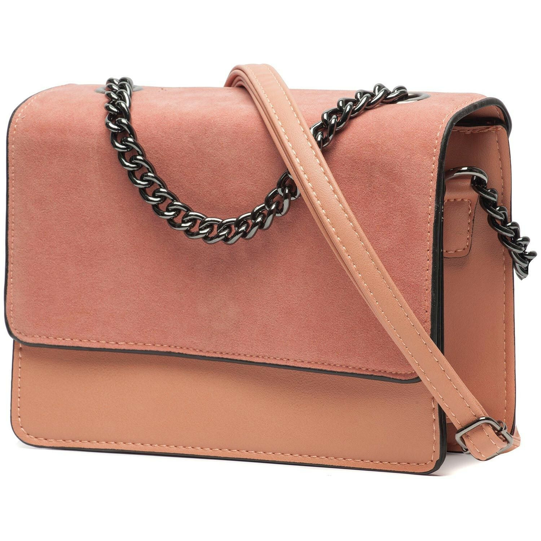 SOFT PINK FOLDOVER BAG