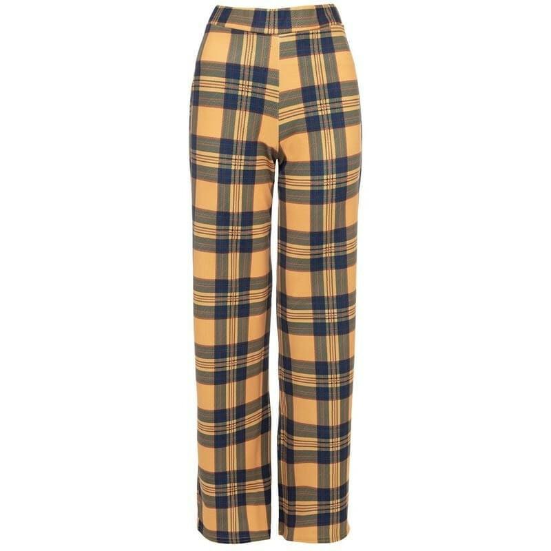 YELLOW CHECKED PANTS
