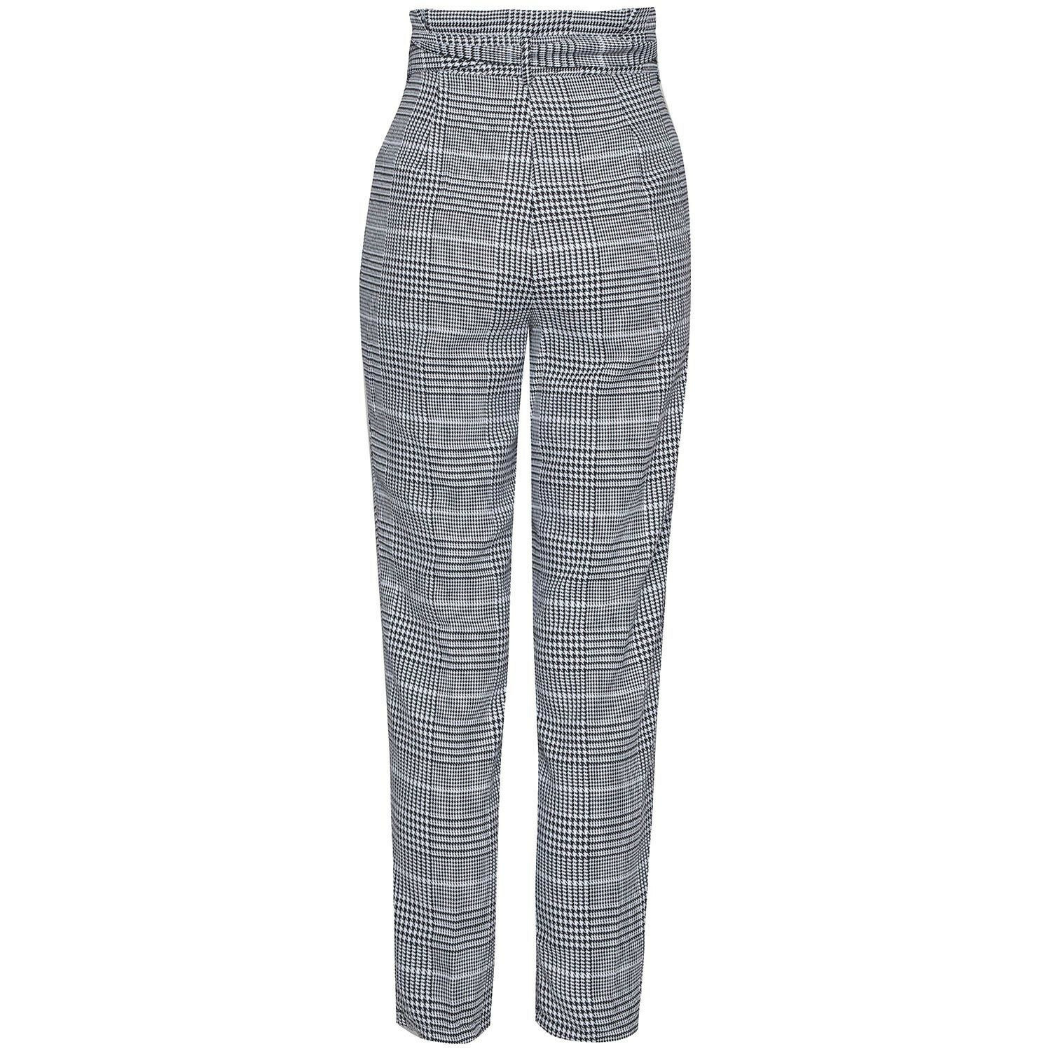 CHECKED PAPERBAG PANTALON