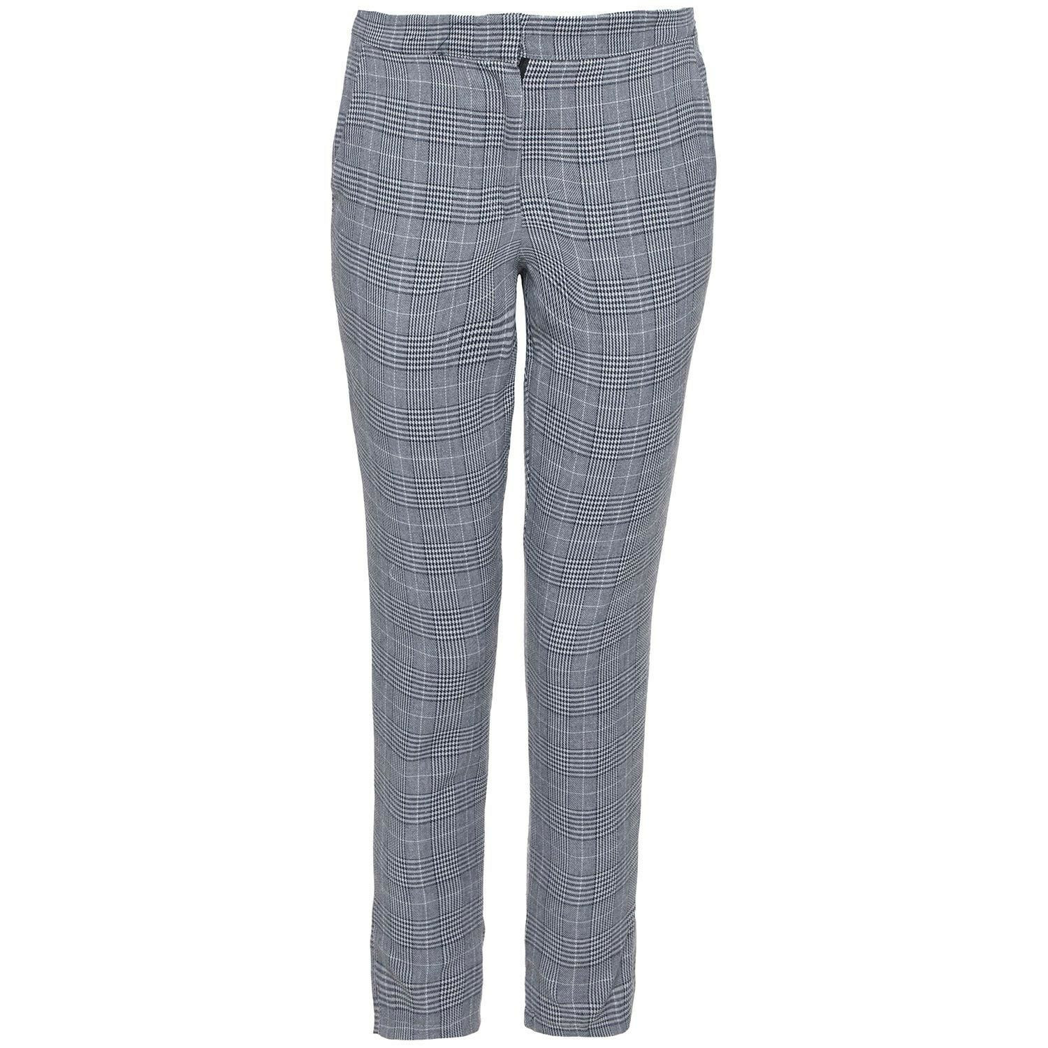 GREY DETAIL CHECK TROUSERS