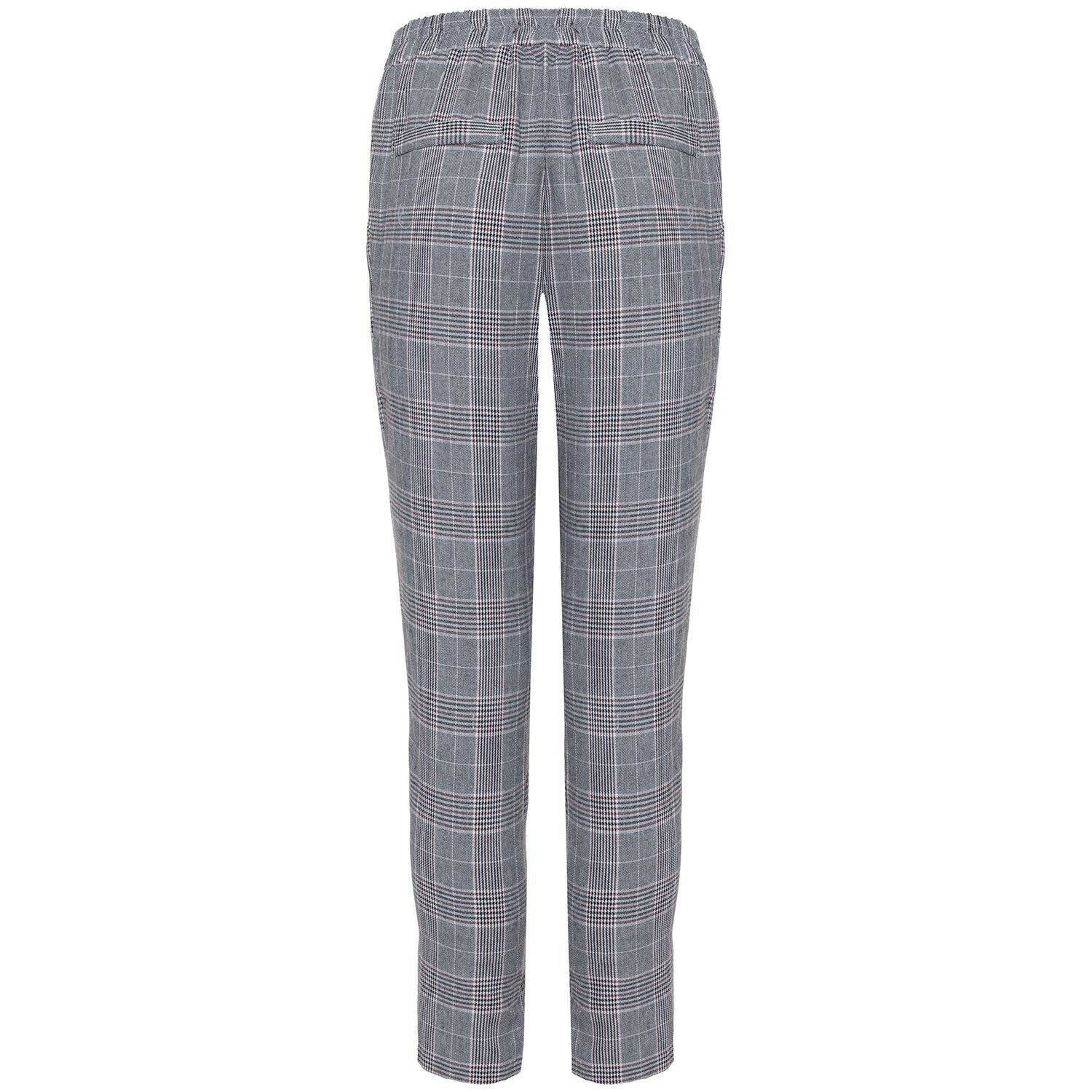 RED DETAIL CHECK TROUSERS