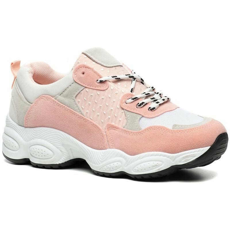 PINK CHUNKY DAD SNEAKERS