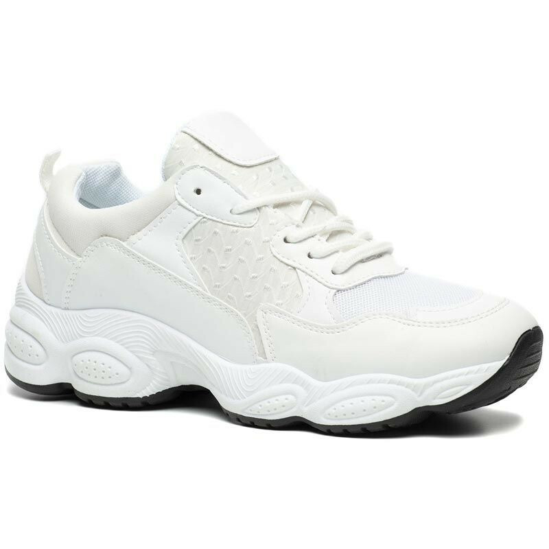 WHITE CHUNKY DAD SNEAKERS