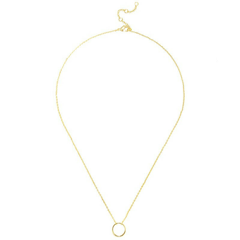 TINY CIRCLE NECKLACE GOLD