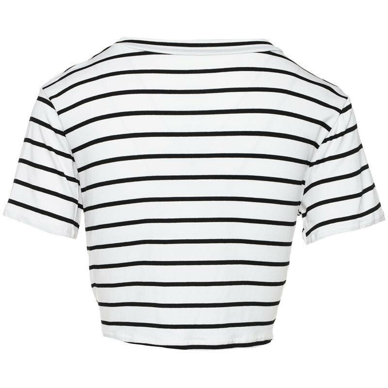 WHITE STRIPED KNOT TOP
