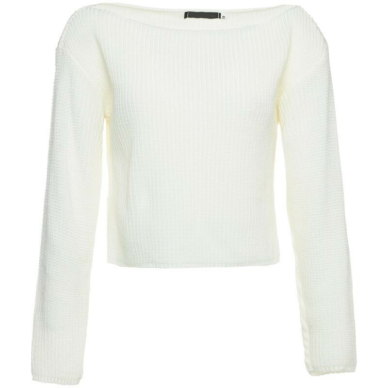 CROPPED KNIT CREAM