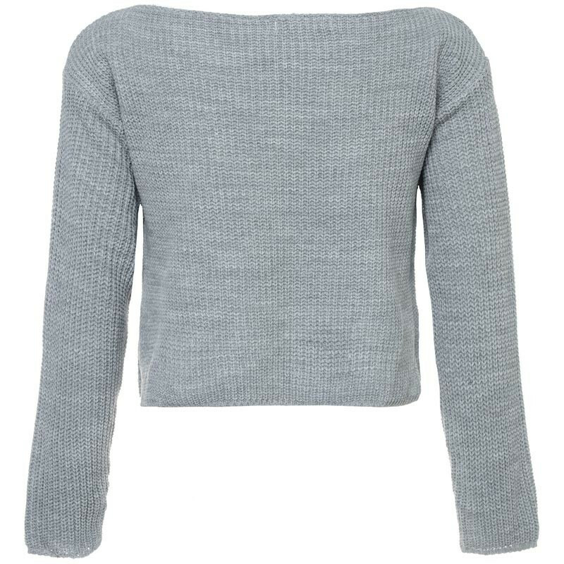 CROPPED KNIT GREY