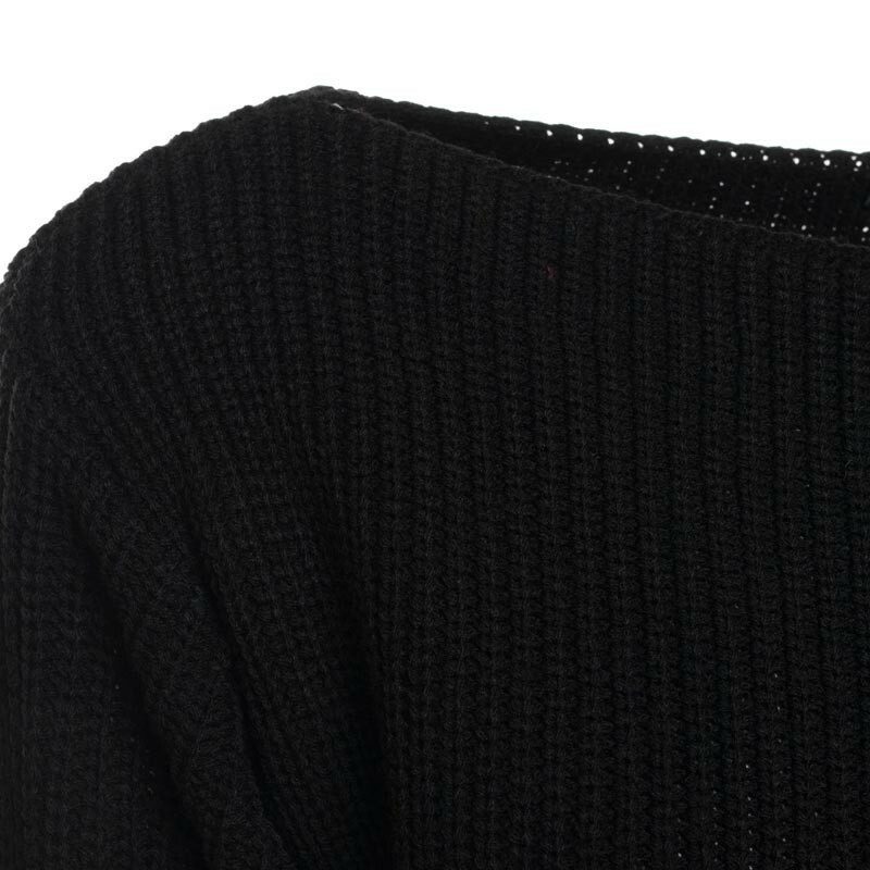CROPPED KNIT BLACK