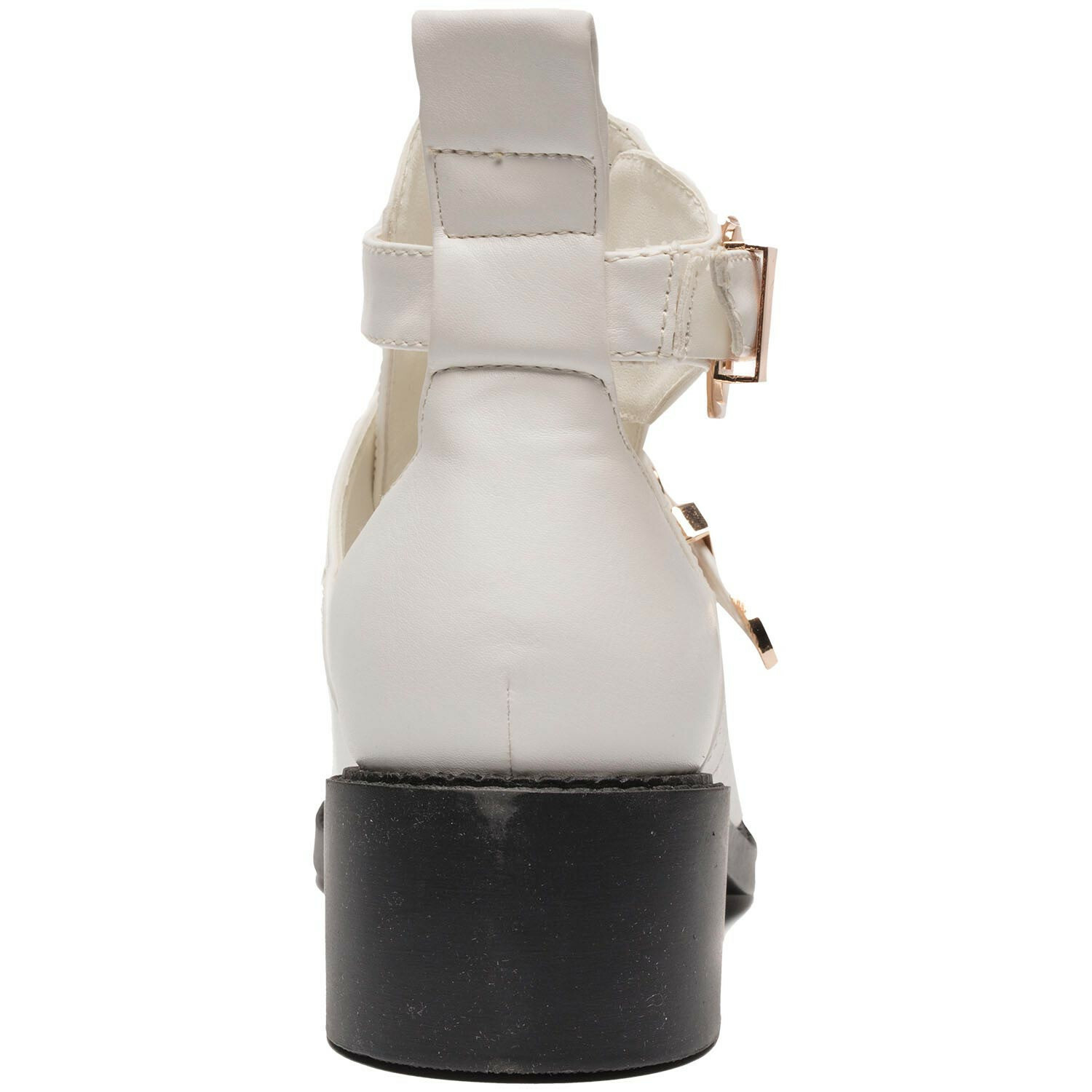 WHITE GOLD BUCKLE BOOTS