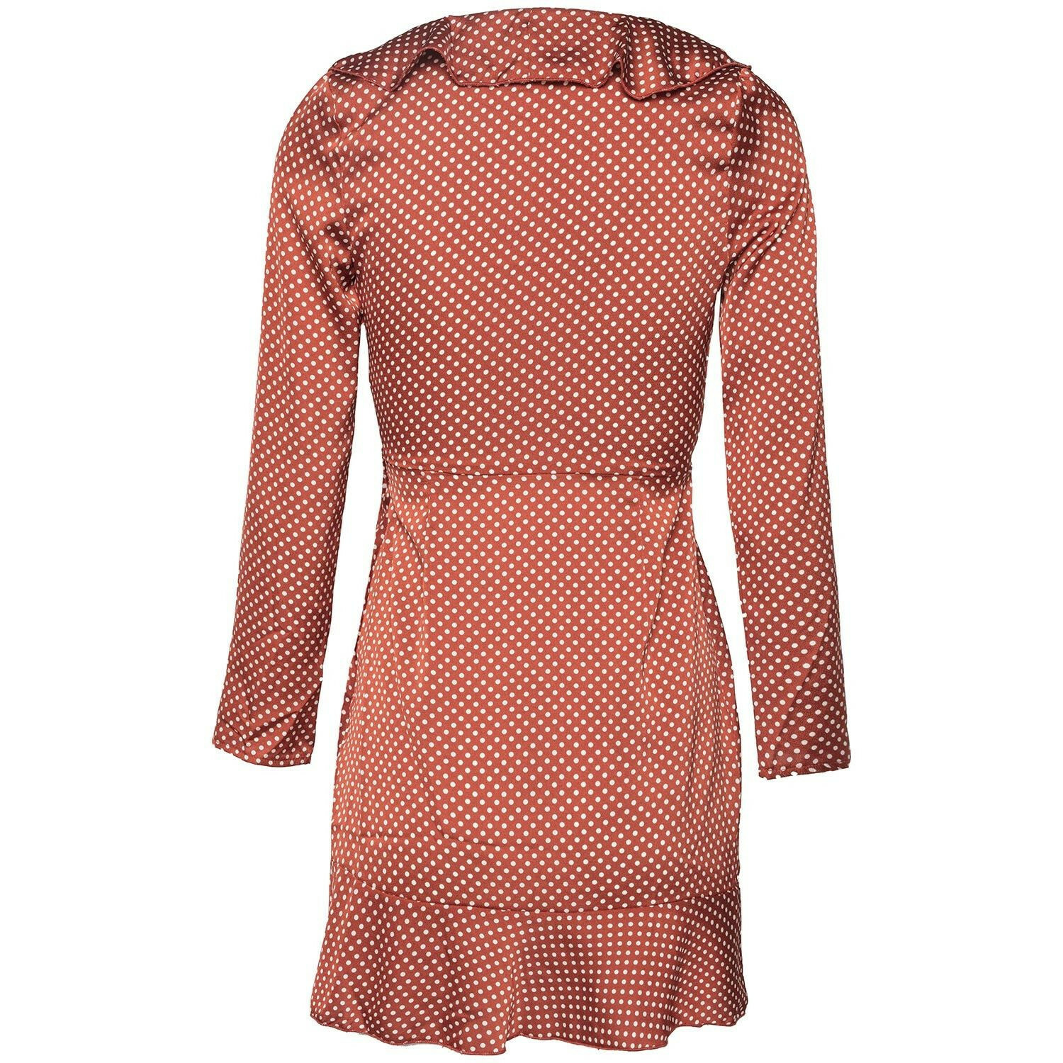 GLAM COPPER WRAP DRESS