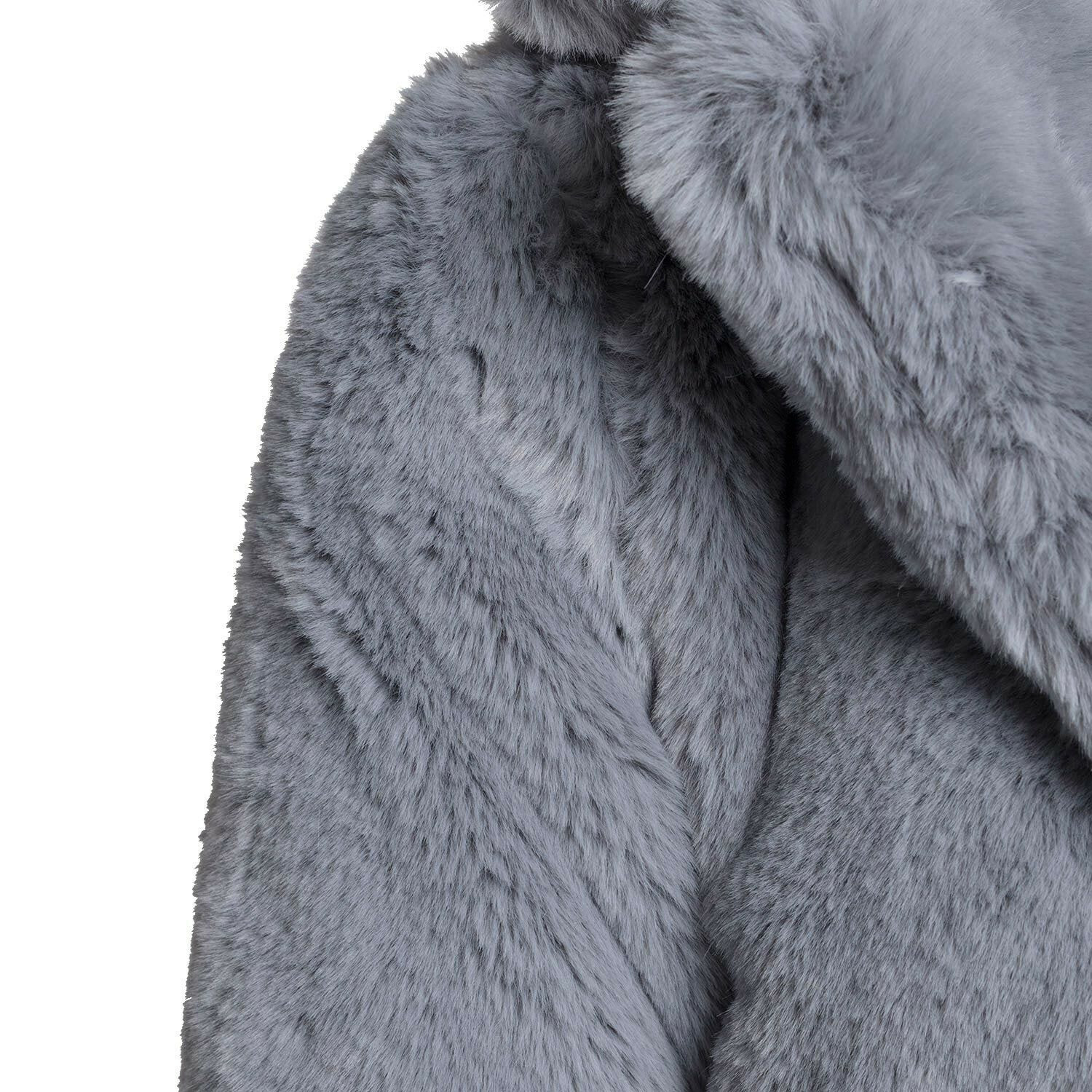 GORGEOUS GREY FAUX FUR