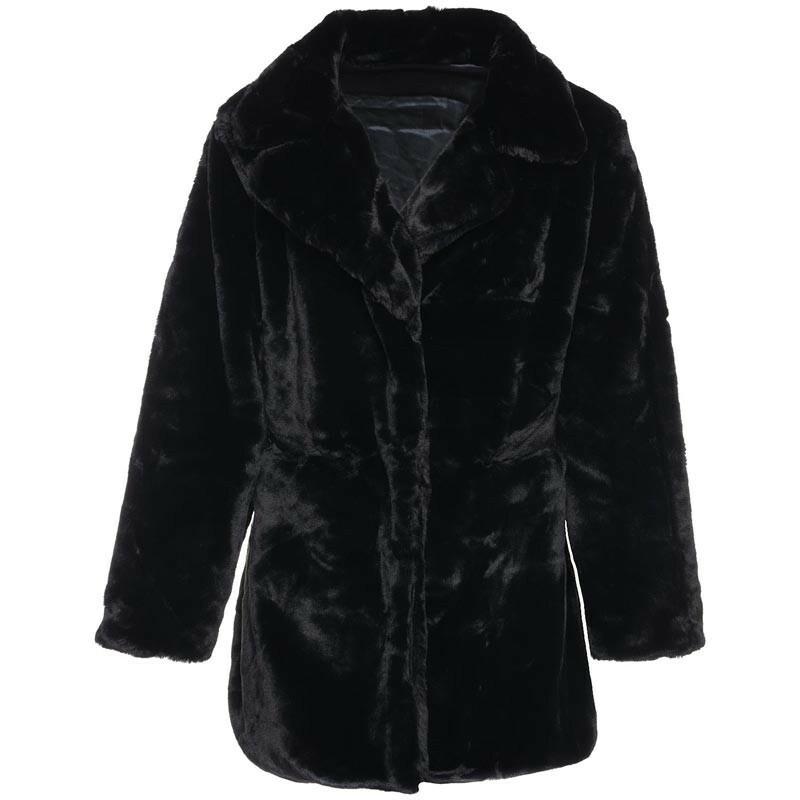 FURRY TEDDY COAT BLACK