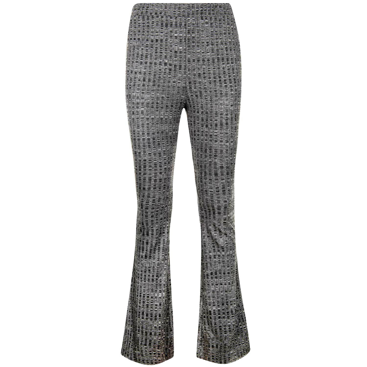 FLARED LIGHT GREY PANTS
