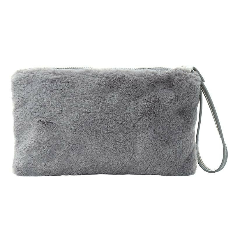 SMALL GREY FLUFFY BAG