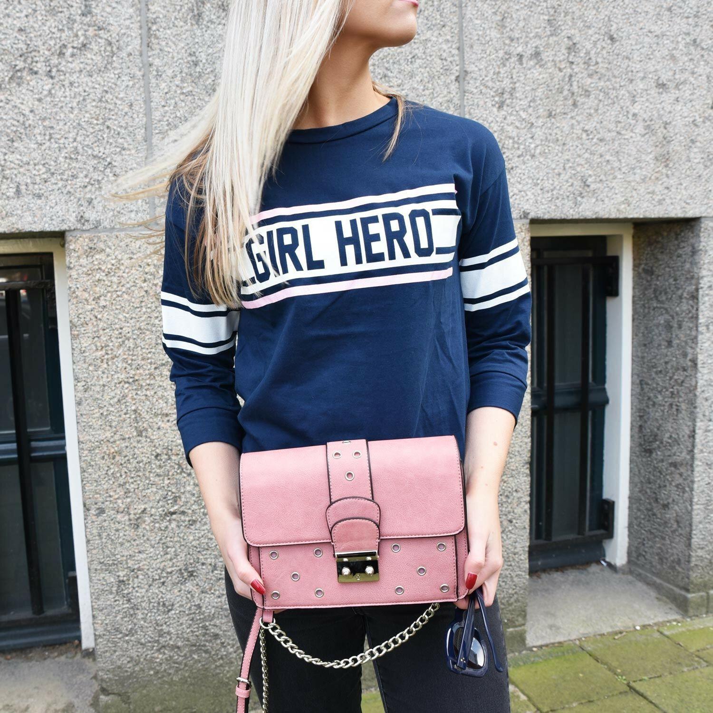 BLUE GIRL HERO TOP