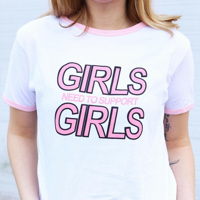GIRLS UNITE RINGER TEE