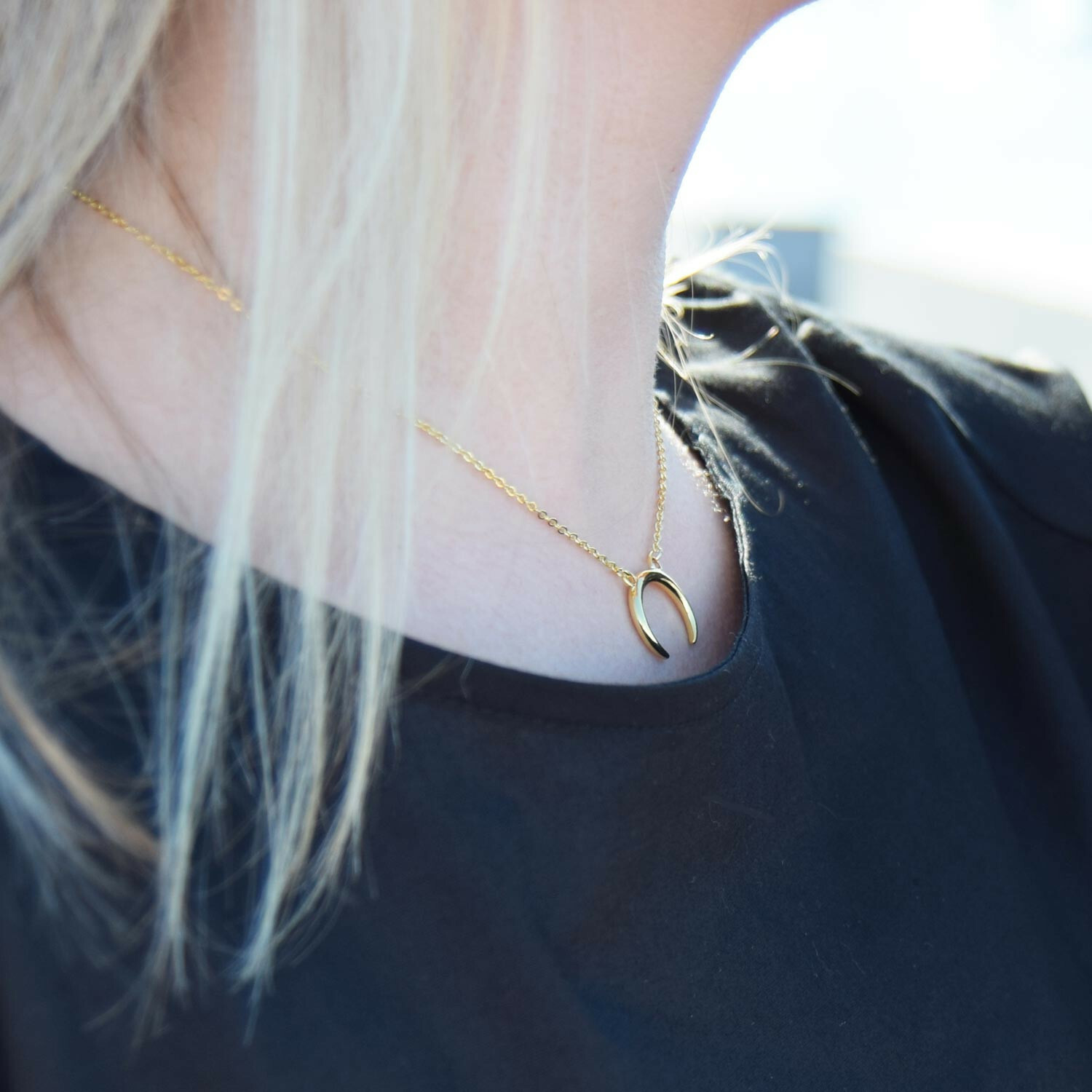 HALFMOON NECKLACE GOLD