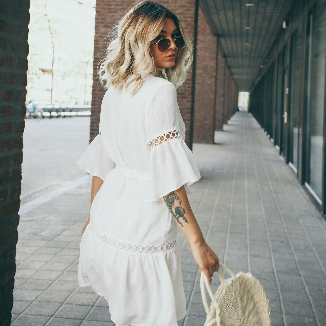 WHITE BEACHY DRESS