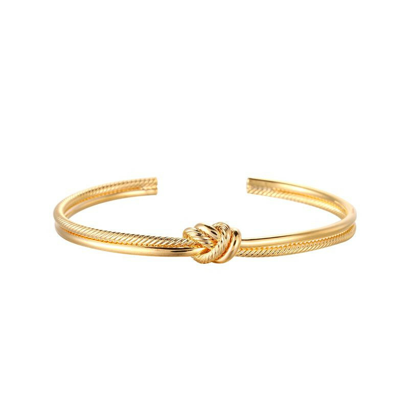 GOLD KNOT BANGLE BRACELET