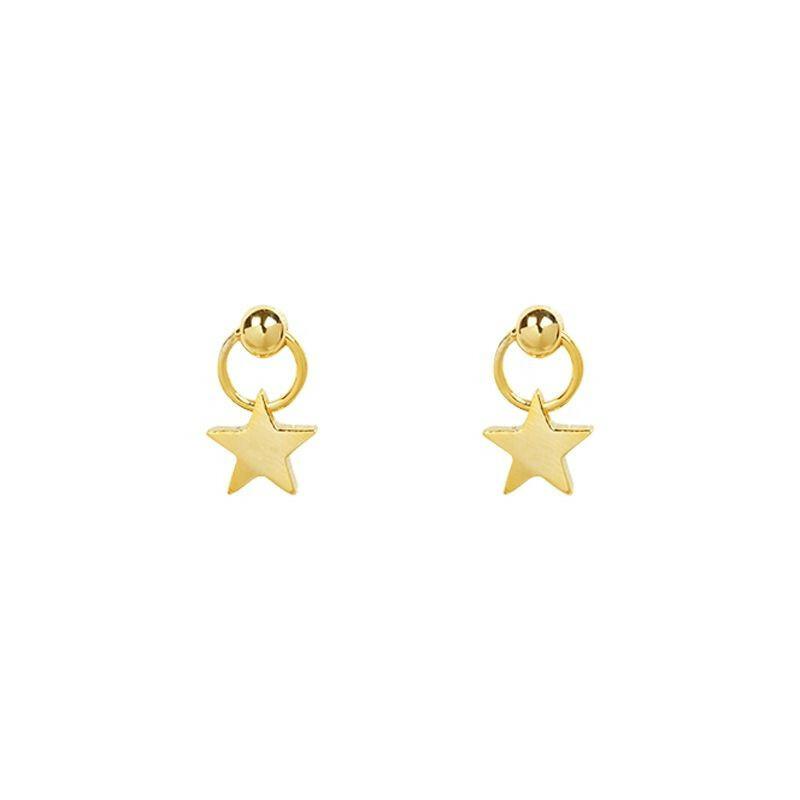 SWEET GOLD STAR EARRINGS
