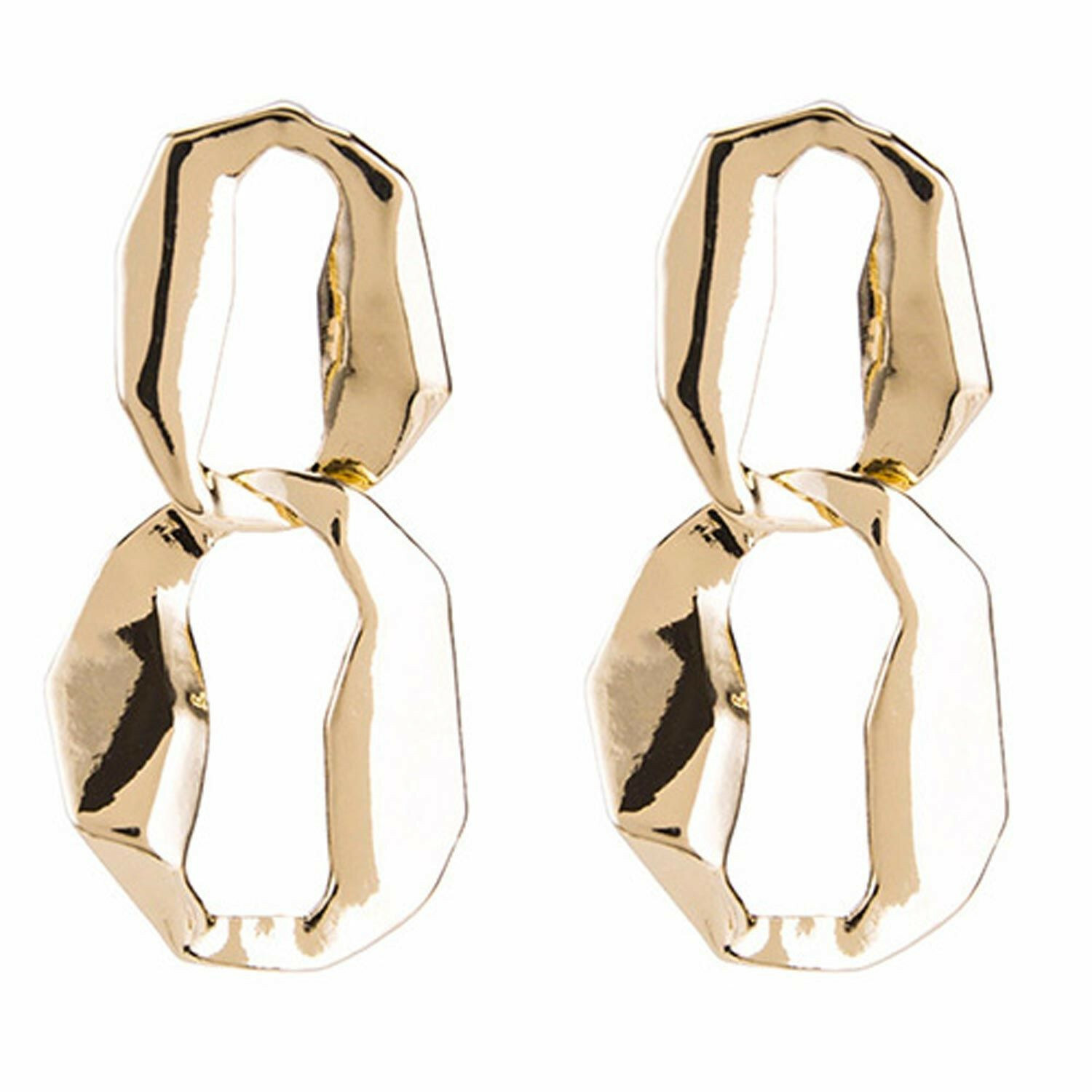 CHUNKY LINK EARRINGS GOLD