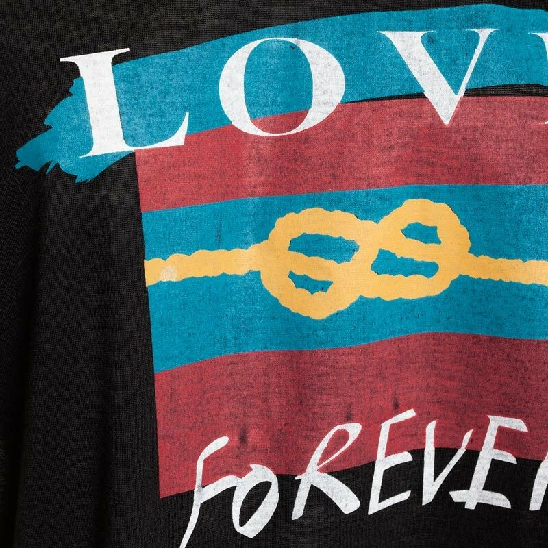 BLACK INFINITE LOVE TEE