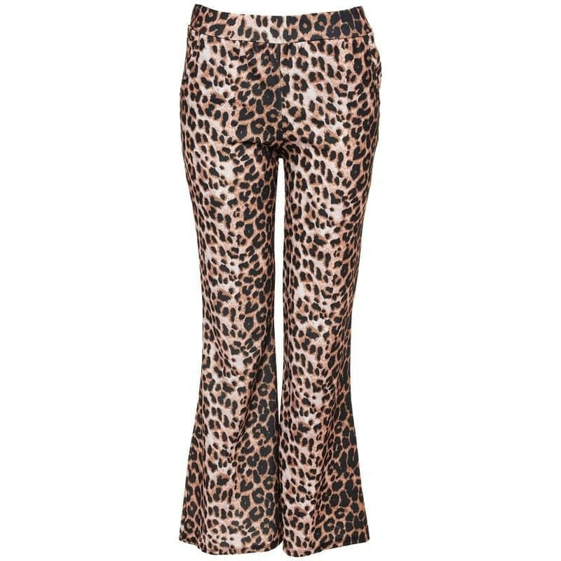 BROWN LEOPARD FLARES