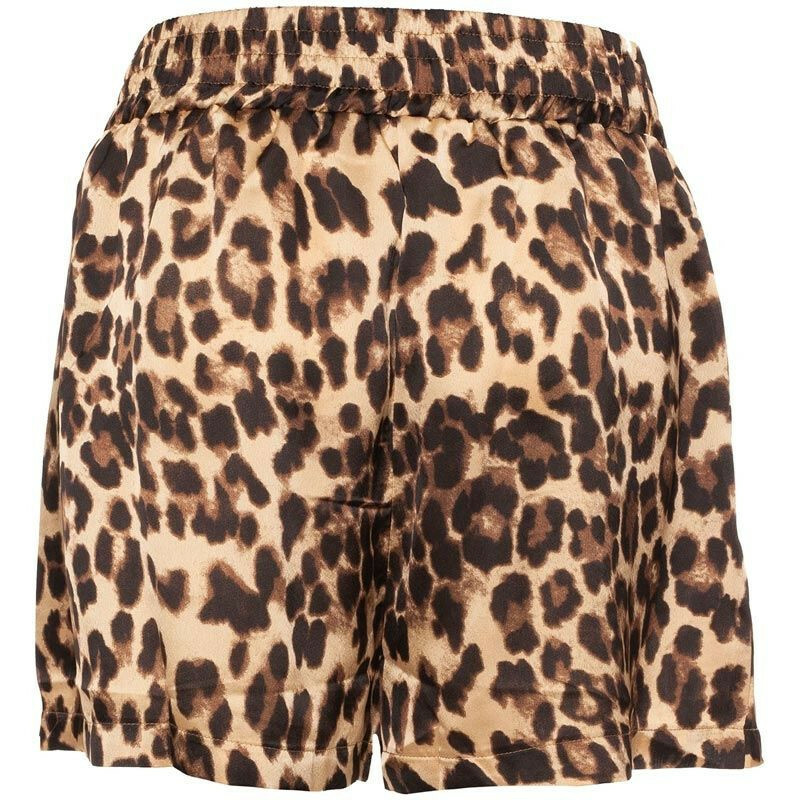 SATIN LEOPARD SHORTS