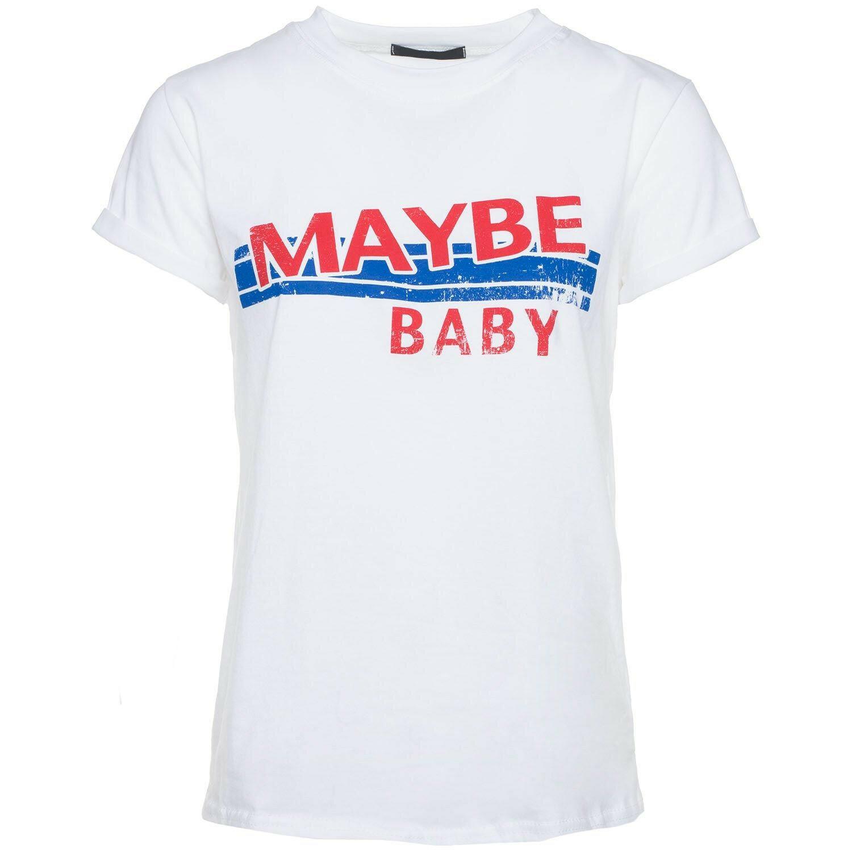 WHITE MAYBE BABY TEE