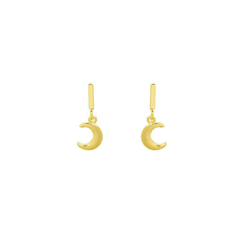 MINI MOON EARRINGS GOLD
