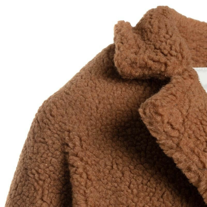 XL TEDDY COAT CAMEL