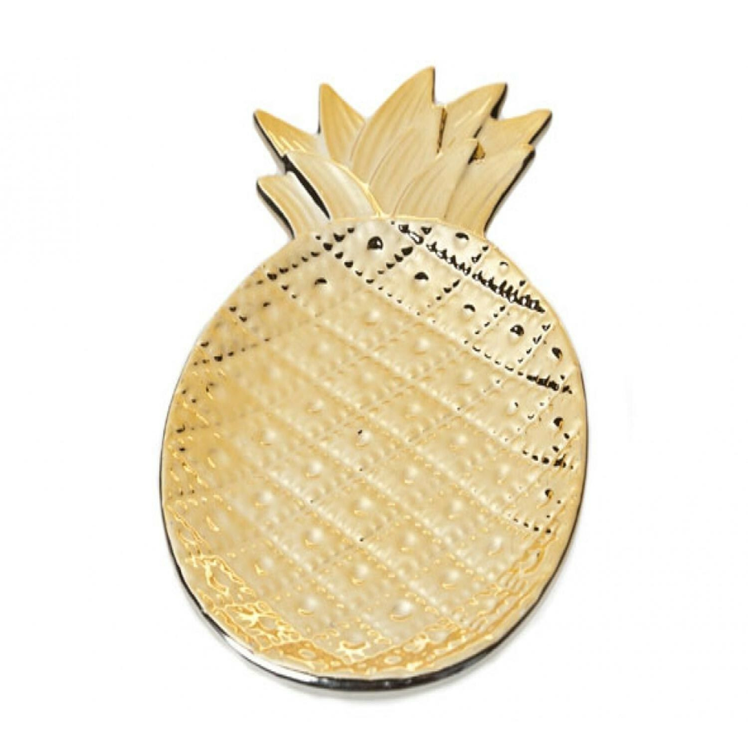 SMALL GOLDEN PINEAPPLE DISH