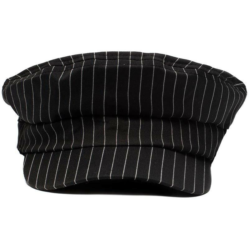 STRIPED BAKER BOY CAP