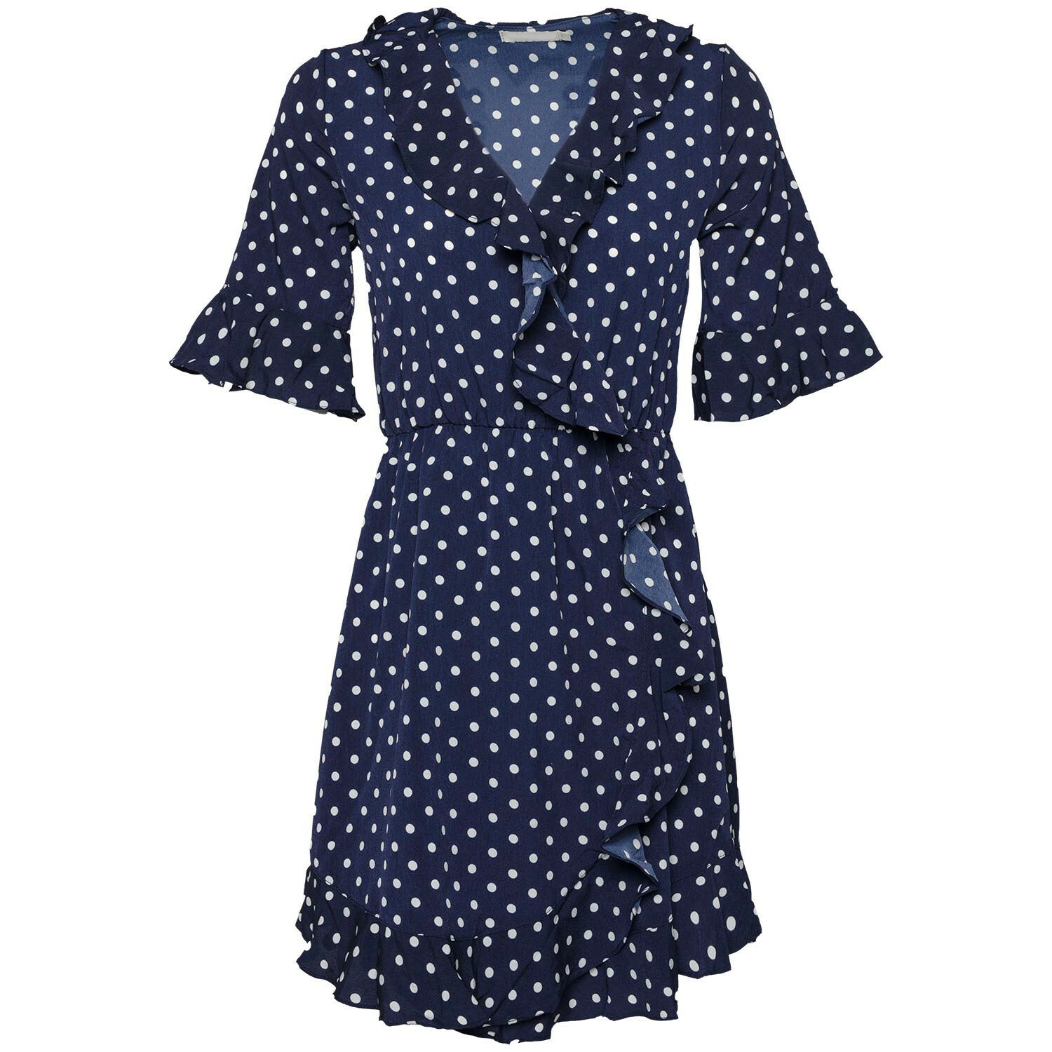 BLUE DOTTED DRESS