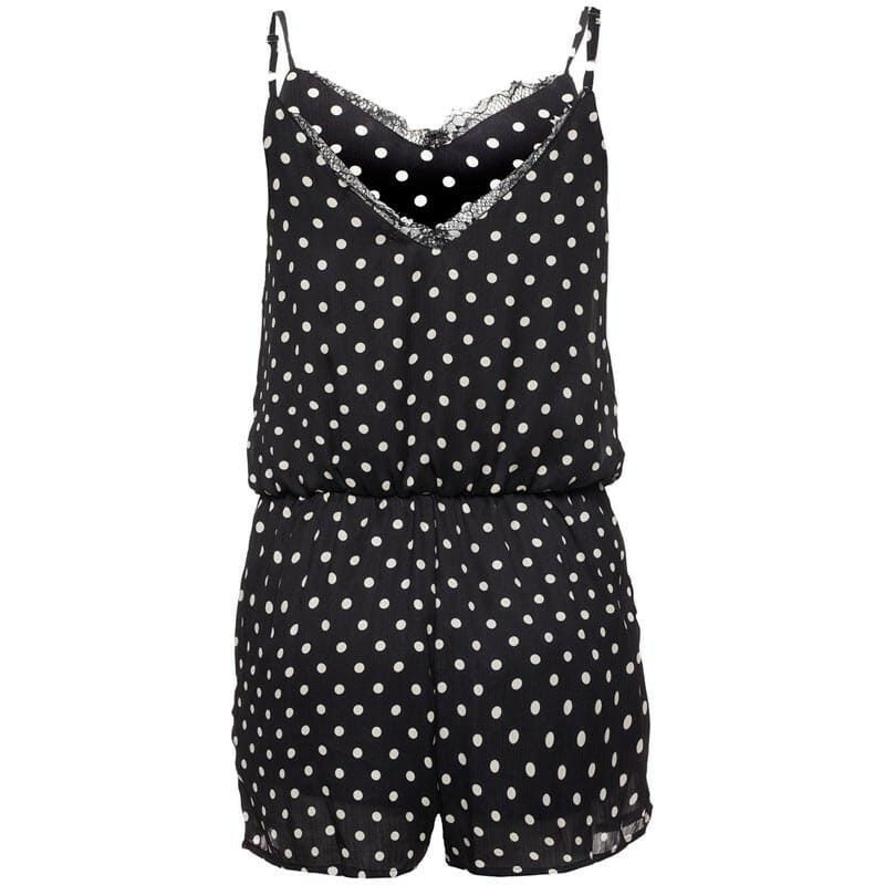 BLACK DOTTED PLAYSUIT