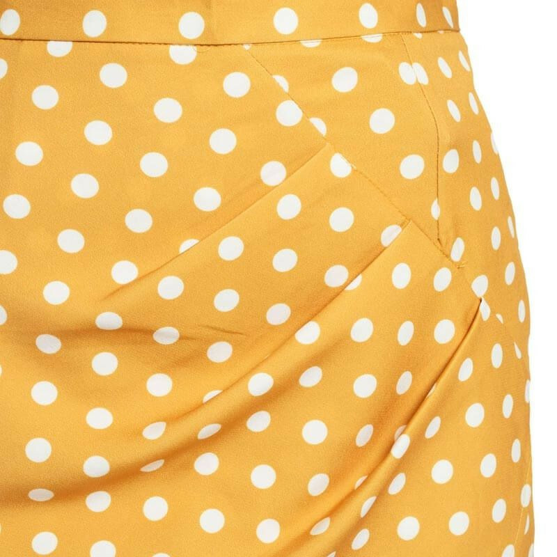 YELLOW DOTTY SKIRT
