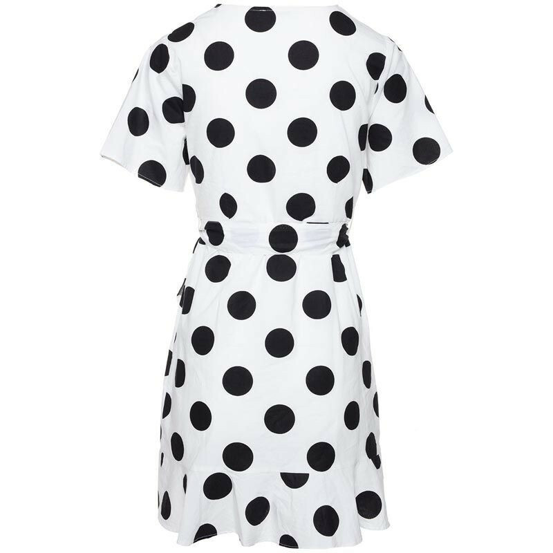WHITE DOTTY SUMMER DRESS