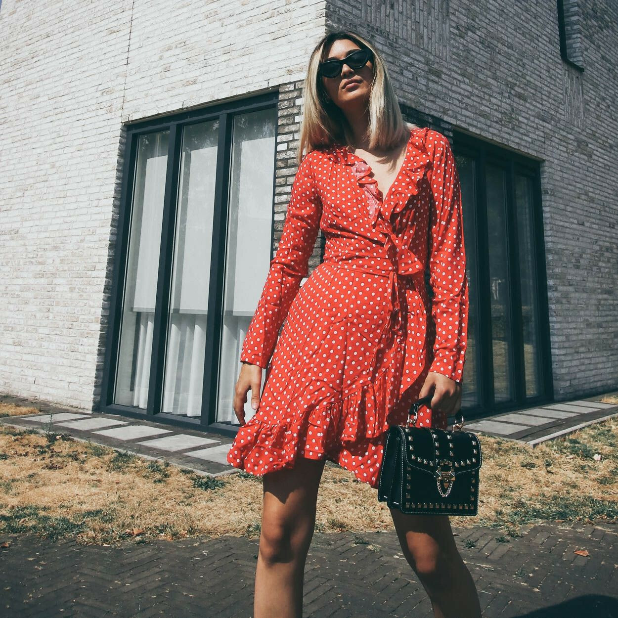 THAT RED DOTTED DRESS
