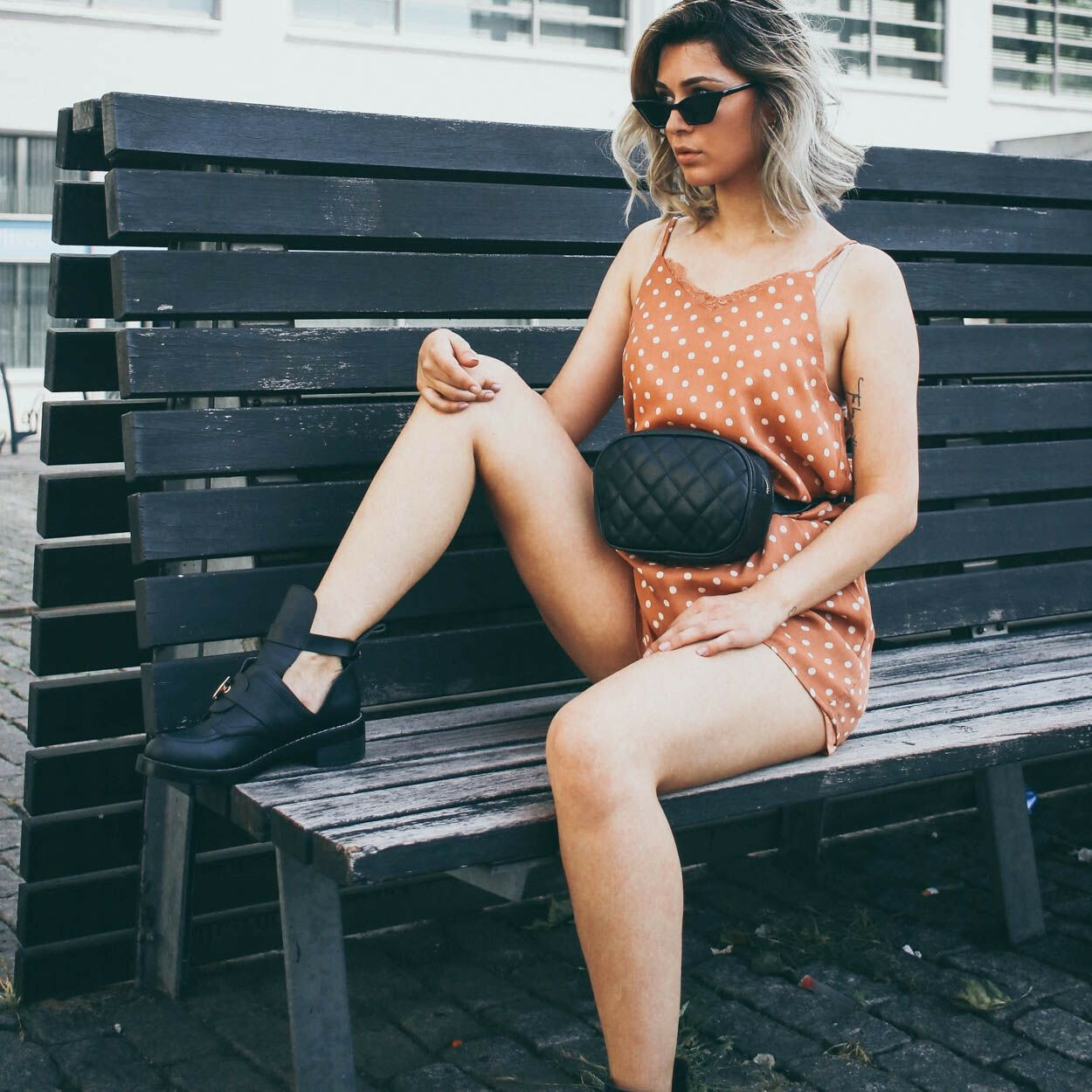 PEACHY DOTTED PLAYSUIT